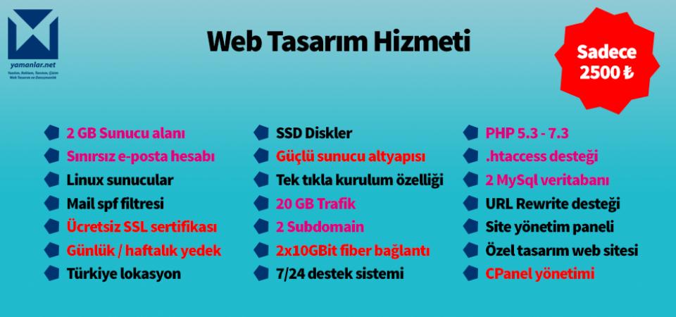 yamanlar.net.tr Web Sitesi